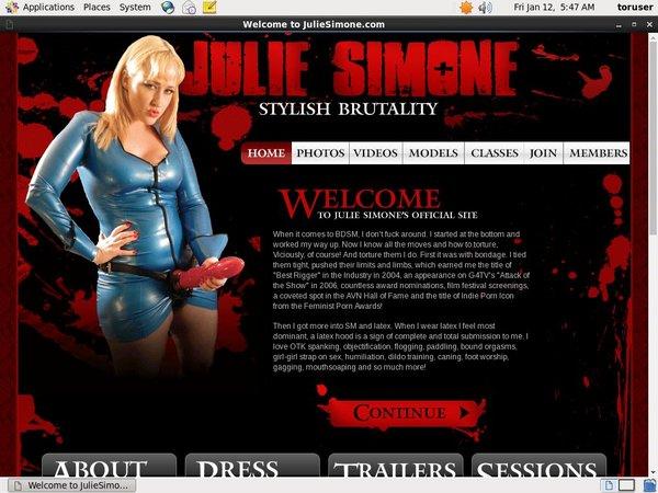 Julie Simone Discount Trial Free